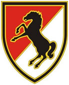 11th Armored Cavalry Regiment Combat Service ID Badges